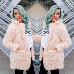 Jackets & Blazers - Blush Shaggy Jacket